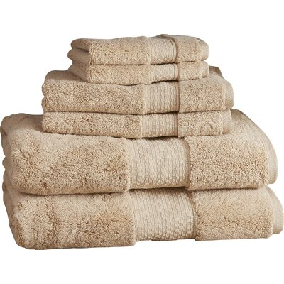 Marjorie 6-Piece Towel Set Color: Desert Sand