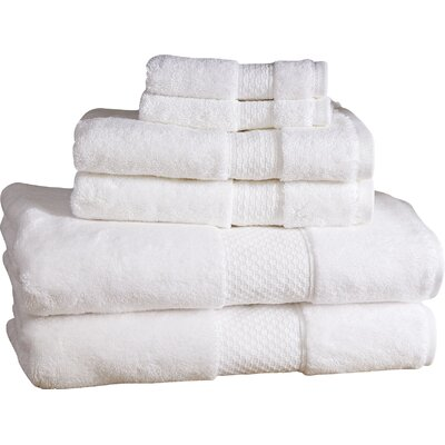 Marjorie 6-Piece Towel Set Color: White