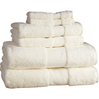 Marjorie 6-Piece Towel Set Color: Ivory