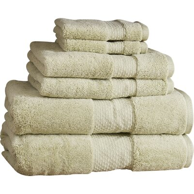 Marjorie 6-Piece Towel Set Color: Thyme