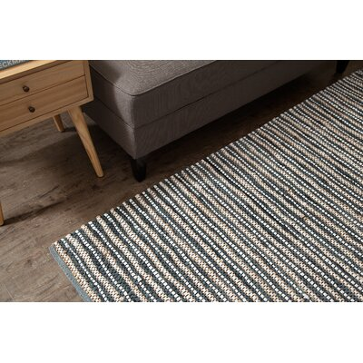Holden Hand-Woven Smoky Blue Area Rug Rug Size: Rectangle 5 x 7