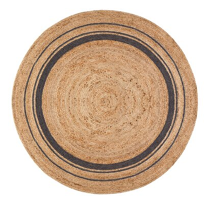 Cordell Gray-Striped Jute Rug