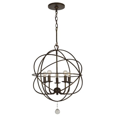 Rodrigues 5-Light Candle-Style Chandelier Finish: English Bronze Steel