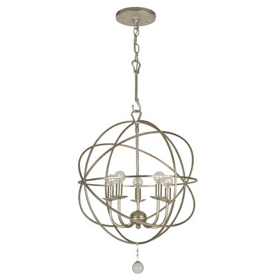Rodrigues 5-Light Candle-Style Chandelier Finish: Olde Silver Steel