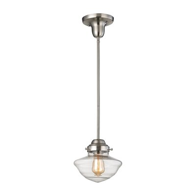 Pitt Mini Pendant Finish: Satin Nickel