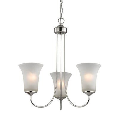 Bethesda 3-Light Shaded Chandelier Finish: Brushed Nickel