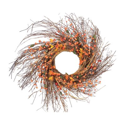 Faux Harvest Berry Grapevine Wreath