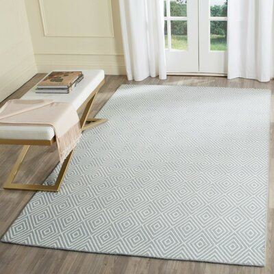 Kris Hand-Woven Light Blue Area Rug Rug Size: Rectangle 5 x 8