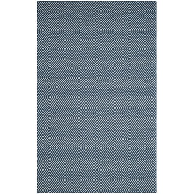 Kris Hand-Woven Navy Area Rug Rug Size: Rectangle 5 x 8