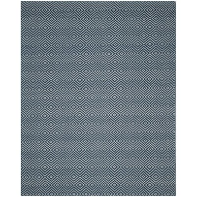 Kris Hand-Woven Navy Area Rug Rug Size: Rectangle 8 x 10