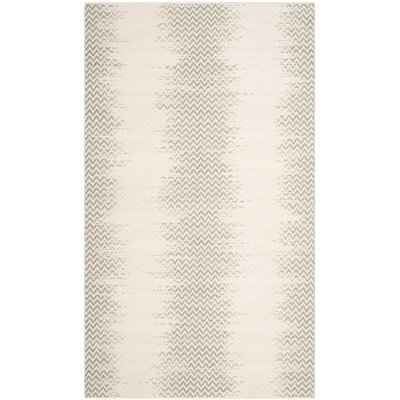 Ogden Hand-Woven Cotton Gray Area Rug Rug Size: Rectangle 8 x 10