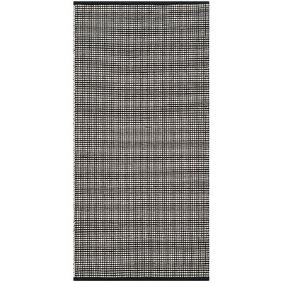 Ollie Hand-Woven Cotton Black Area Rug Rug Size: Runner 23 x 8