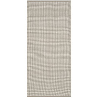 Oxbow Hand-Woven Cotton Ivory/Gray Area Rug Rug Size: Runner 23 x 8