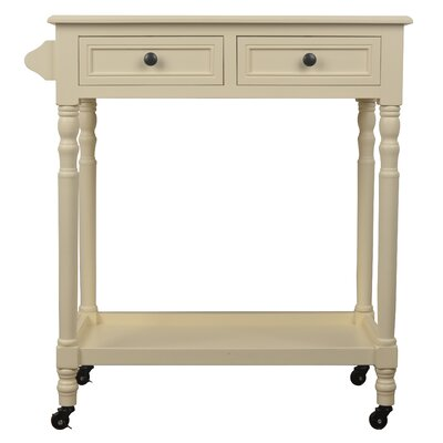 Huddleston Bar Cart with Drawers Frame Finish: White
