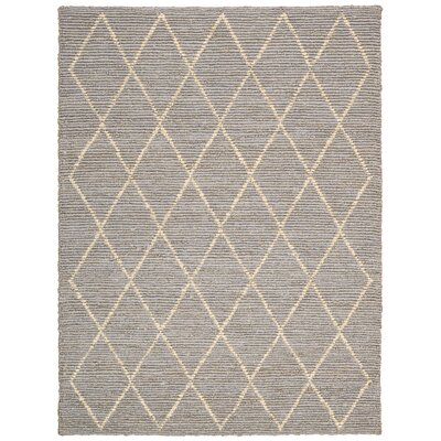 Cordell Handmade Gray Area Rug Rug Size: 9' x 12'