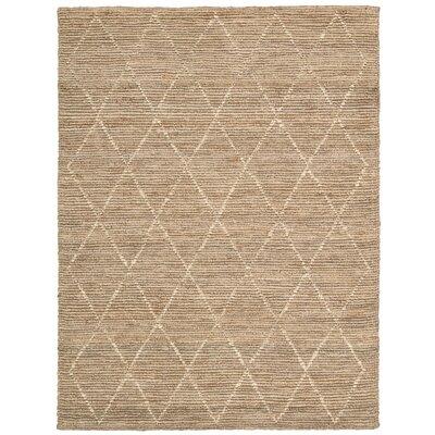 Cordell Handmade Brown Area Rug Rug Size: 53 x 75