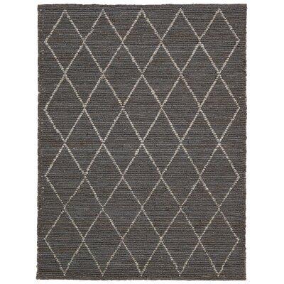 Cordell Handmade Charcoal Area Rug Rug Size: 53 x 75