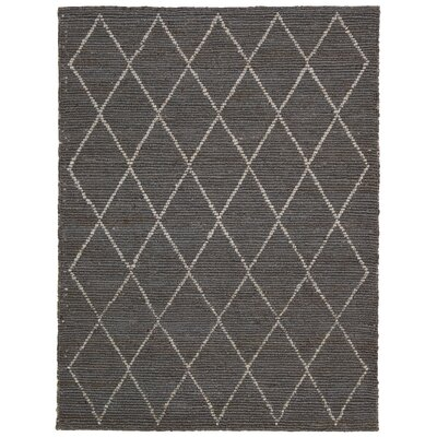 Cordell Handmade Charcoal Area Rug Rug Size: 8 x 10