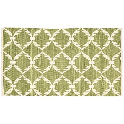 Brantley Lime/White Area Rug
