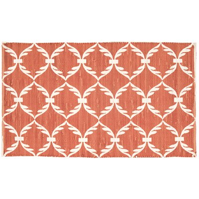 Brantley Orange/White Area Rug