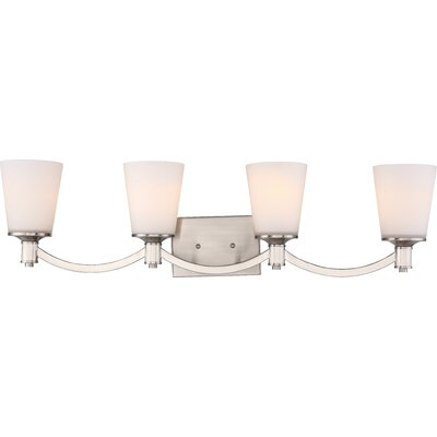 Bamford 4-Bulb Vanity Light Base Finish: Brushed  Nickel