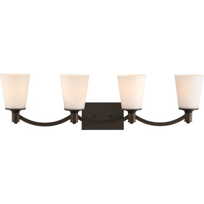 Bamford 4-Bulb Vanity Light Base Finish: Aged  Bronze