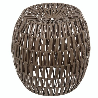Lanier Wicker Stool Finish: Brown Light Wash