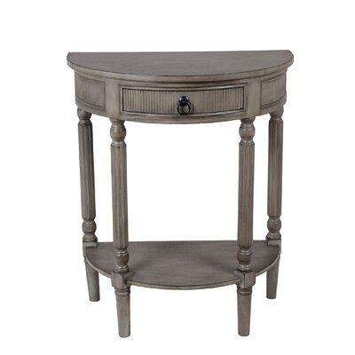 Trumbell Half-Round Side Table Color: Matte