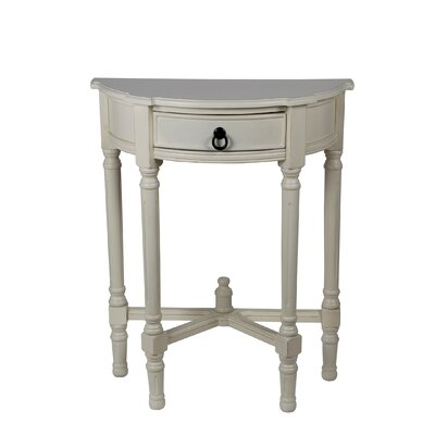 Cricklade Demilune Side Table Color: Vanilla Bean