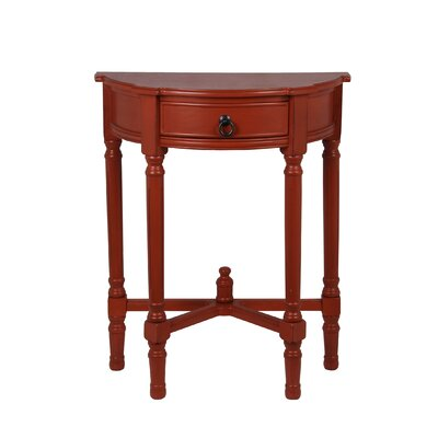 Cricklade Demilune Side Table Finish: Terracotta
