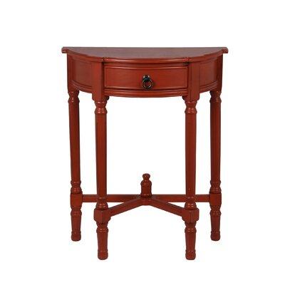 Cricklade Demilune Side Table Finish: Terracotta
