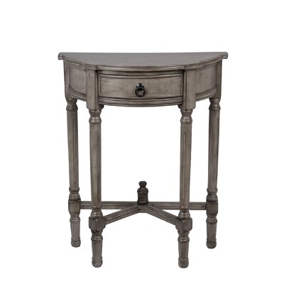 Cricklade Demilune Side Table Finish: Weather Stone