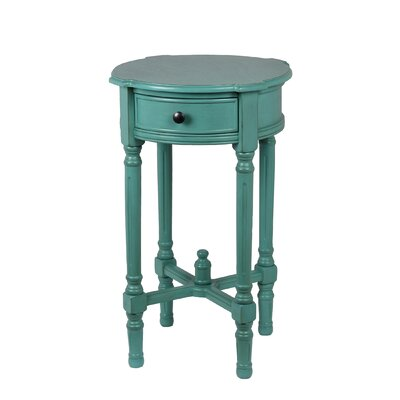 Cricklade Round Side Table Color: Peacock