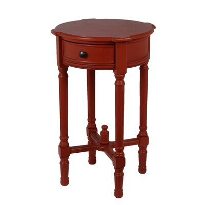 Cricklade Round Side Table Color: Terracotta