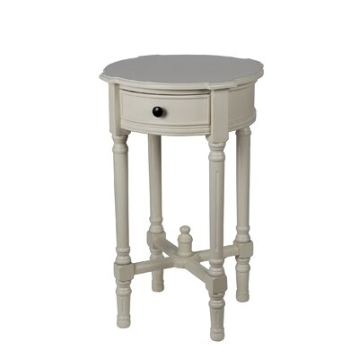 Cricklade Round Side Table Color: Vanilla Bean