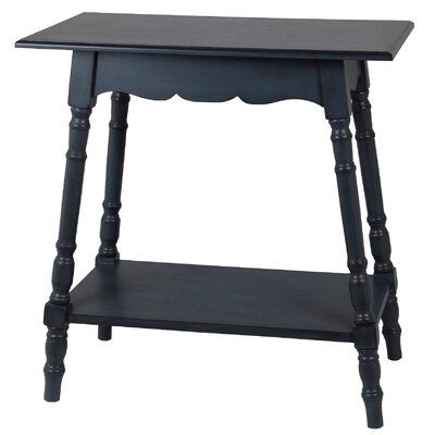 Cricklade Rectangular Side Table Color: Antique Navy