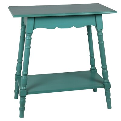Cricklade Rectangular Side Table Finish: Peacock