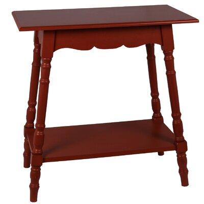 Cricklade Rectangular Side Table Finish: Terracotta