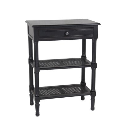 Capell Rectangular Side Table Finish: Black