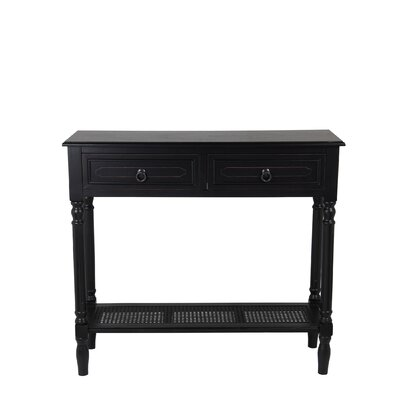 Seamus Console Table Finish: Black