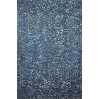 Omar Deep Blue Rug Rug Size: Rectangle 86 x 117