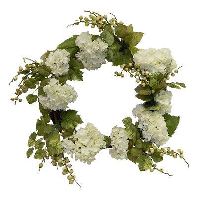 Faux Lush Hydrangea Wreath