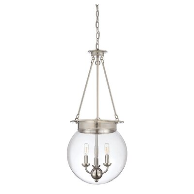 Durrell Globe Pendant Finish: Polished Nickel