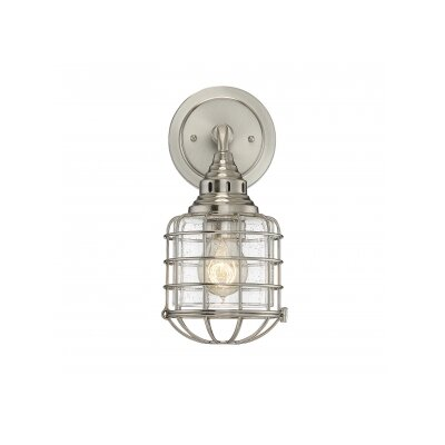 Dodsley 1-Light Armed Sconce Finish: Satin Nickel