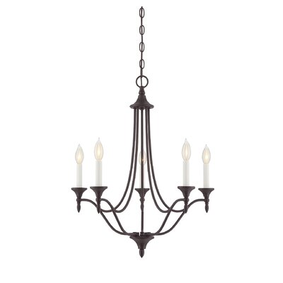 Gourdine 5-Light Candle-Style Chandelier Finish: English Bronze