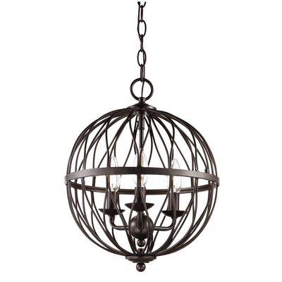 Delany 4-Bulb Pendant Finish: Antique Silver Leaf