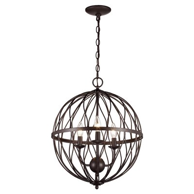 Delany 3-Bulb Pendant Finish: Oil Rubbed Bronze