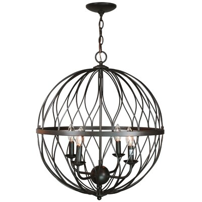 Delany 4-Bulb Pendant Finish: Oil Rubbed Bronze