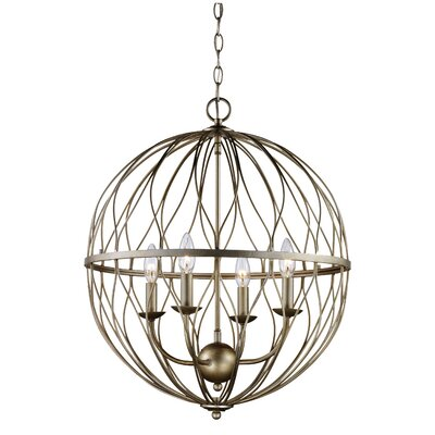 Delany 4-Bulb Pendant Finish: Antique Silver