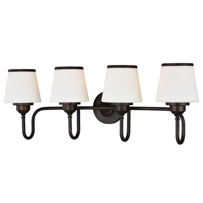 Dodwell 4-Bulb Vanity Light Finish: Bronze